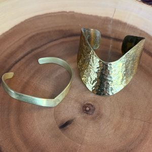 Gold cuff stack for wrist or arm!